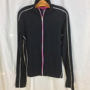 bcg black active wear track jacket M